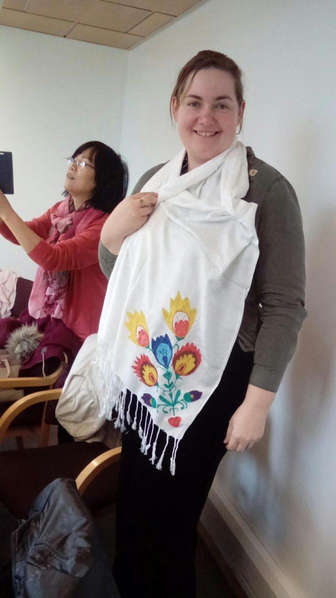Agnes Stasiak – participant, wearing a Pashmina wrap.