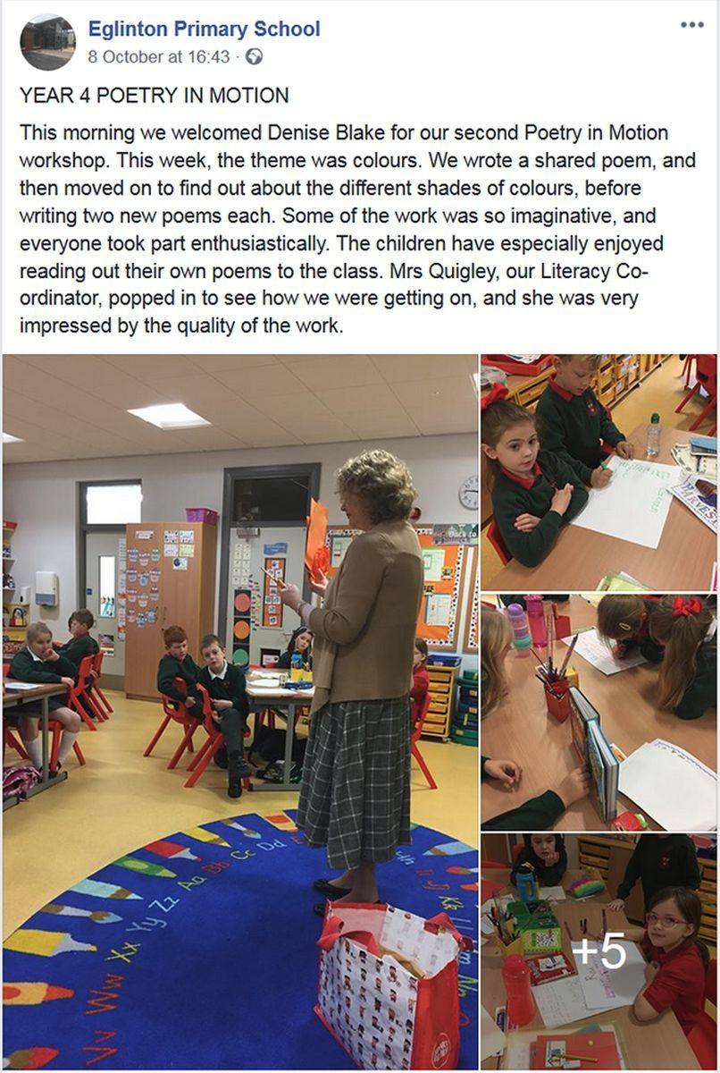 Poetry in Motion Schools - Eglinton Primary School