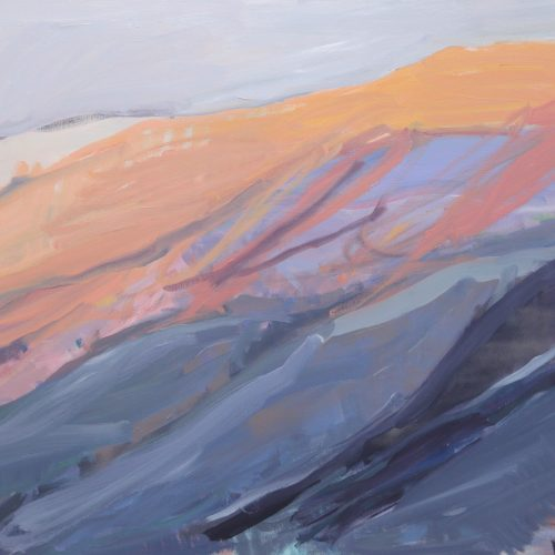 BalIard L Icelandic sunset mountains 92x 153cm lr