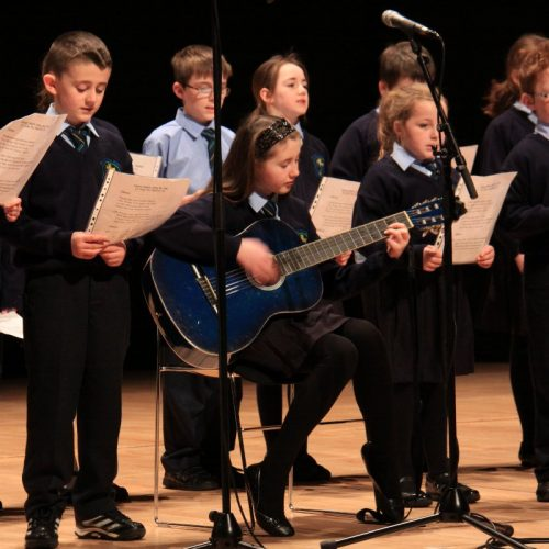 Pupils from St John the Baptist Primary School